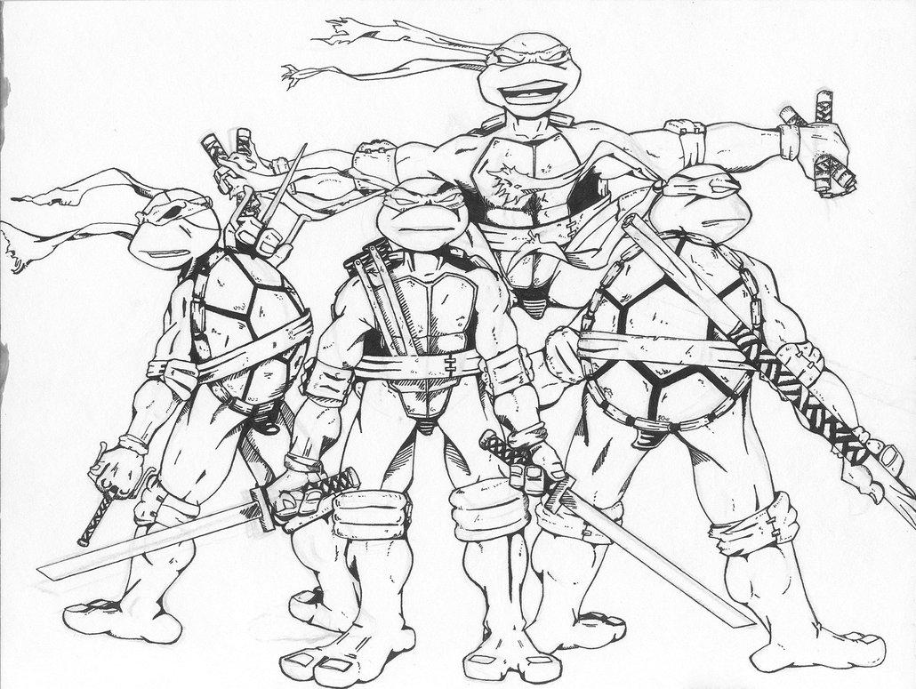 1030x775 Teenage Mutant Ninja Turtles Coloring Pages Ni