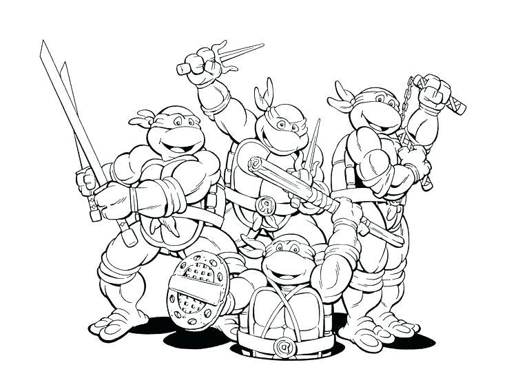 736x549 Coloring Pages Ninja Turtles Marvelous Teenage Mutant Coloring