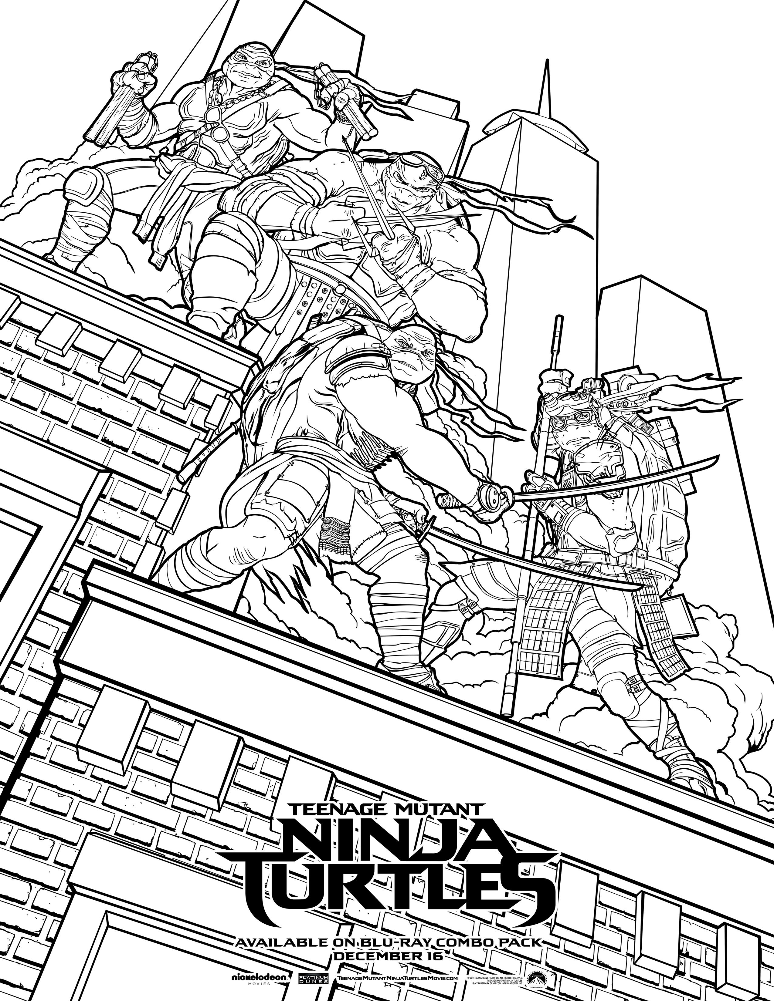 2550x3300 Nickelodeon Ninja Turtles Coloring Pages