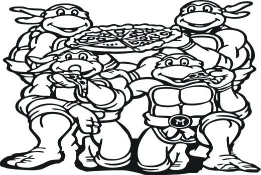 520x350 Nickelodeon Tmnt Coloring Pages Coloring Pages Ninja Turtle