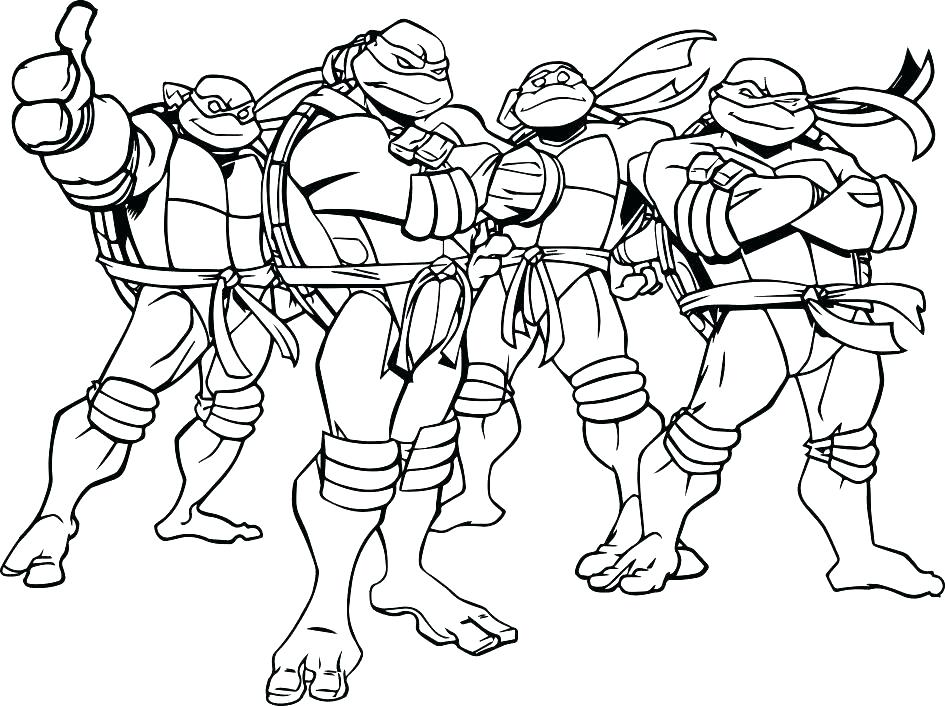 945x706 Coloring Tmnt Coloring Pages Printable Nickelodeon Teenage Mutant