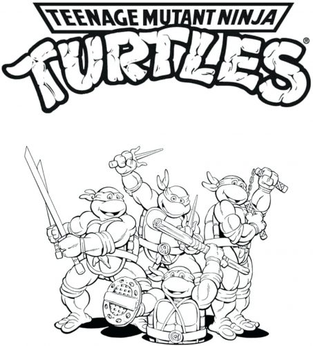 453x500 Coloring Pages Tmnt Coloring Pages Ninja Turtles To Print Free