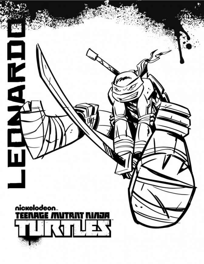 672x871 Nickelodeon Tmnt Coloring Pages Teenage Mutant Ninja Turtles