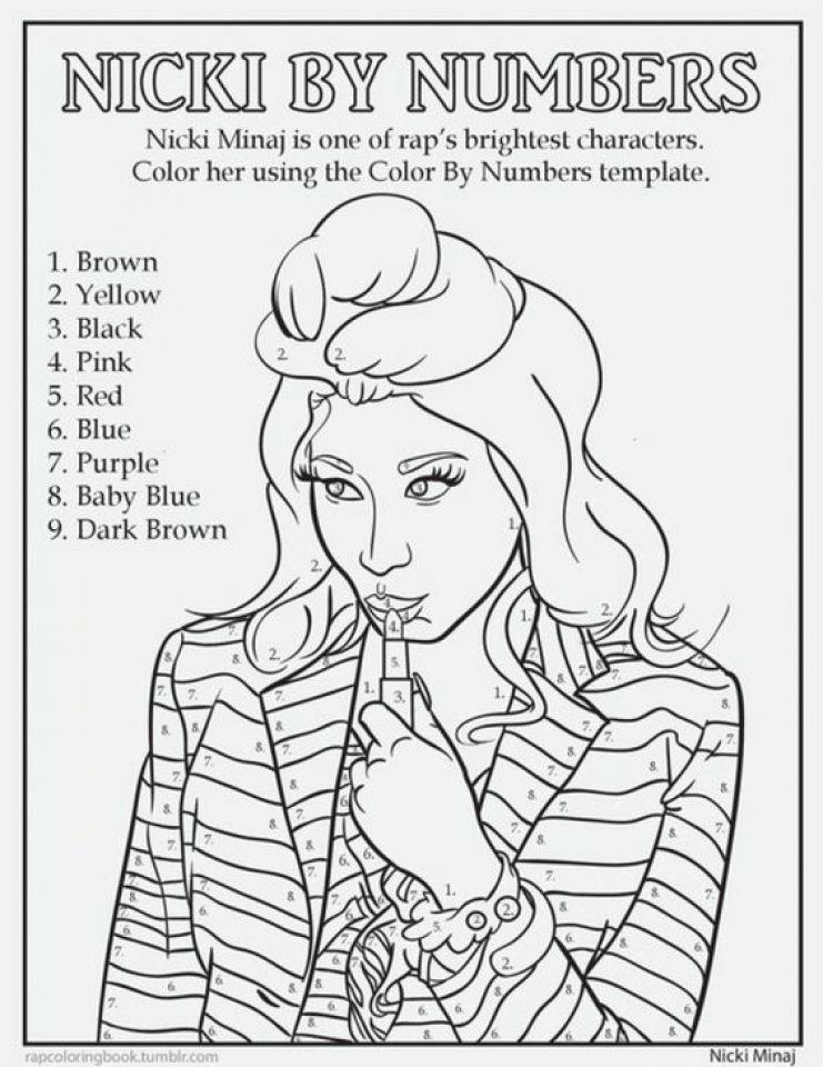 741x960 Nicki Minaj Coloring Pages To Print For Nicki Minaj Coloring