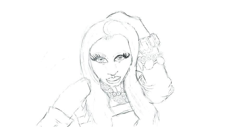 900x490 Nicki Minaj Coloring Pages