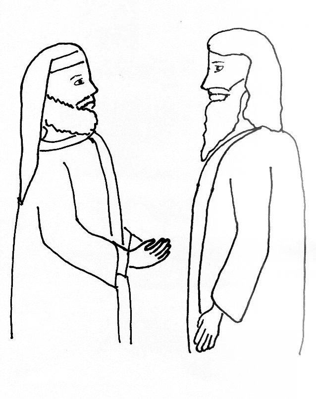 Nicodemus Coloring Page