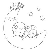 200x200 Good Night Coloring Pages Surfnetkids