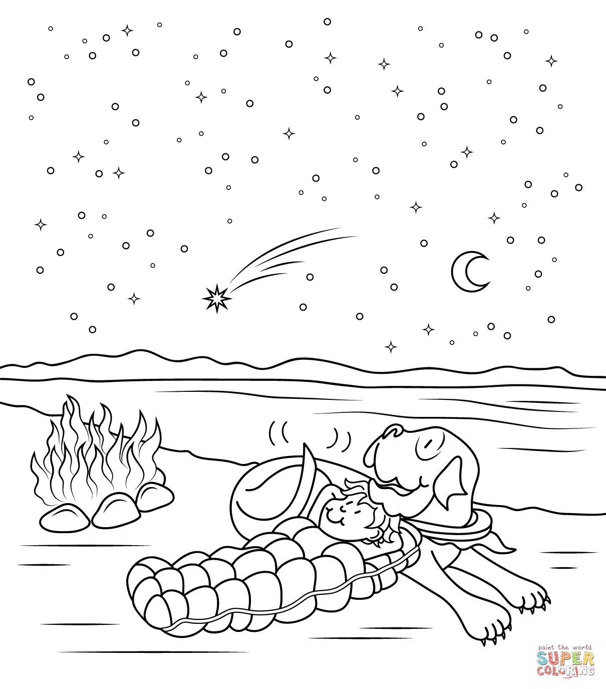 1210x1375 Night Coloring Pages Tixac