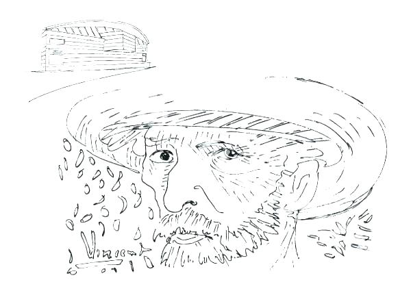 600x425 Self Portrait Coloring Page Van Starry Night Coloring Page Self