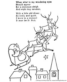236x288 The Night Before Christmas Coloring Pages And Laying His Finger
