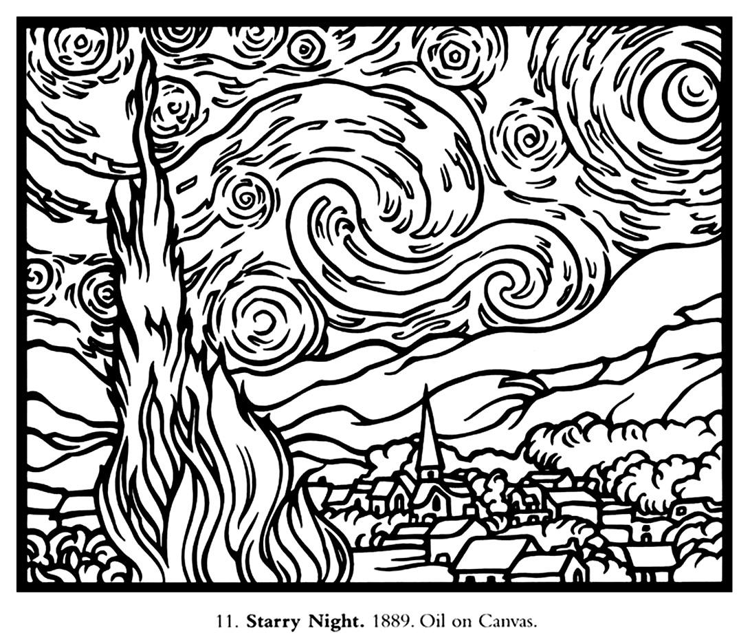 1091x936 Van Gogh Starry Night Large