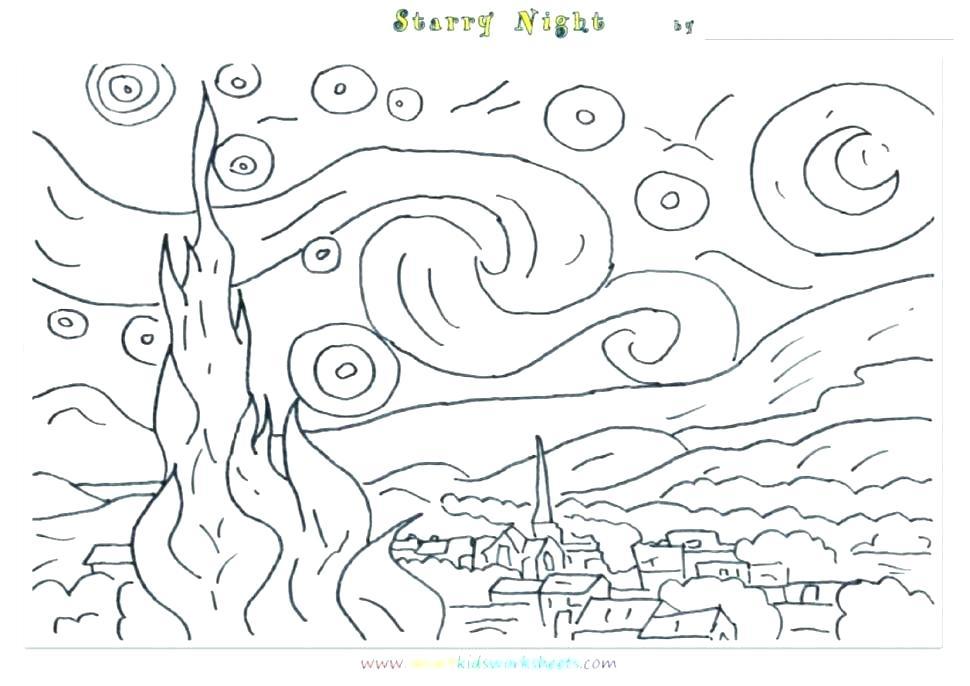 970x686 Vincent Van Gogh Coloring Pages Irises