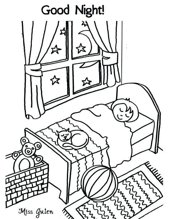 555x710 Astounding Mesmerizing Night Coloring Pages Print Morning Page Day