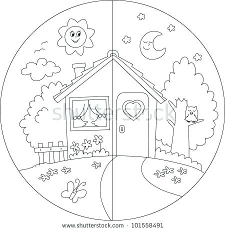 450x462 Night Coloring Pages