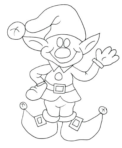 413x500 Elf Coloring Sheet Elf Coloring Pages For Kids Elf Hat Coloring
