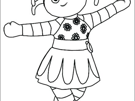 440x330 In The Night Garden Coloring Pages Daisy In The Night Garden