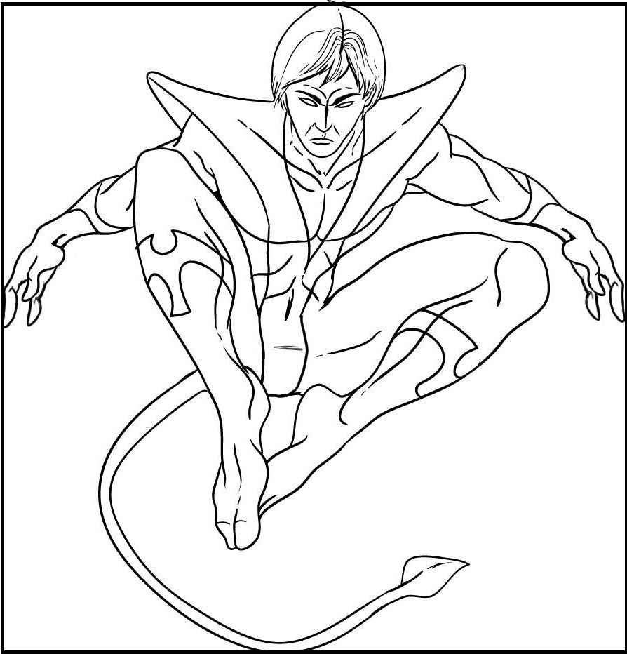 Nightcrawler Coloring Pages