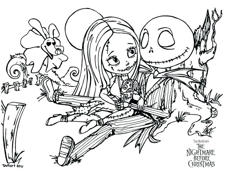 736x561 Nightmare Before Christmas Coloring Pages As Well As Nightmare