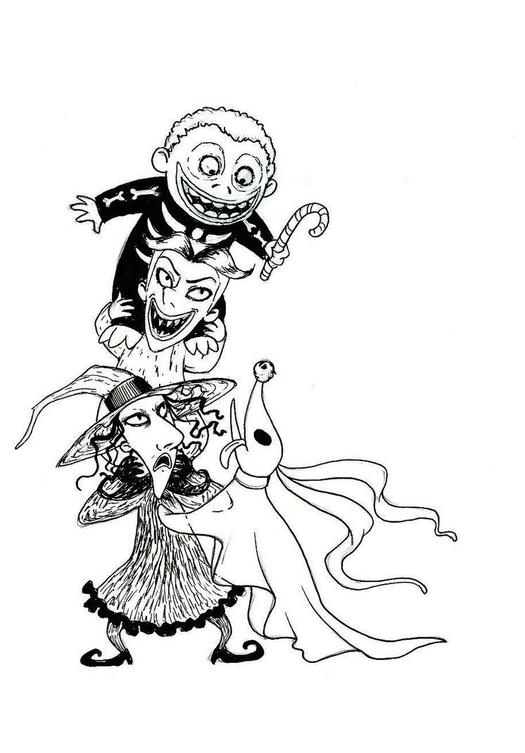 746x1070 The Nightmare Before Christmas Zero Coloring Pages Lock Tattoo