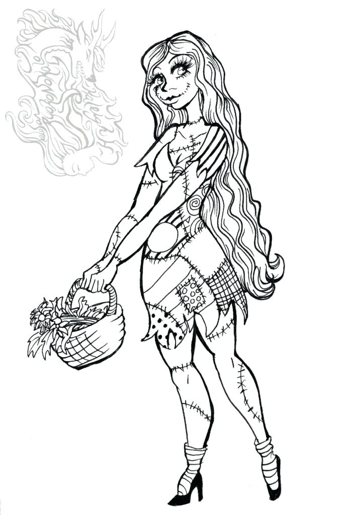 Nightmare Before Christmas Coloring Pages At Getdrawings Com Free