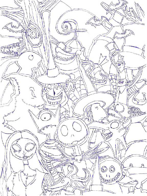 574x768 Nightmare Before Christmas Coloring Book The Nightmare Before