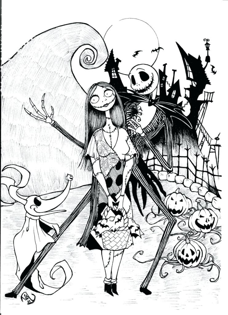 742x1024 Nightmare Before Christmas Coloring Page Nightmare Before Coloring