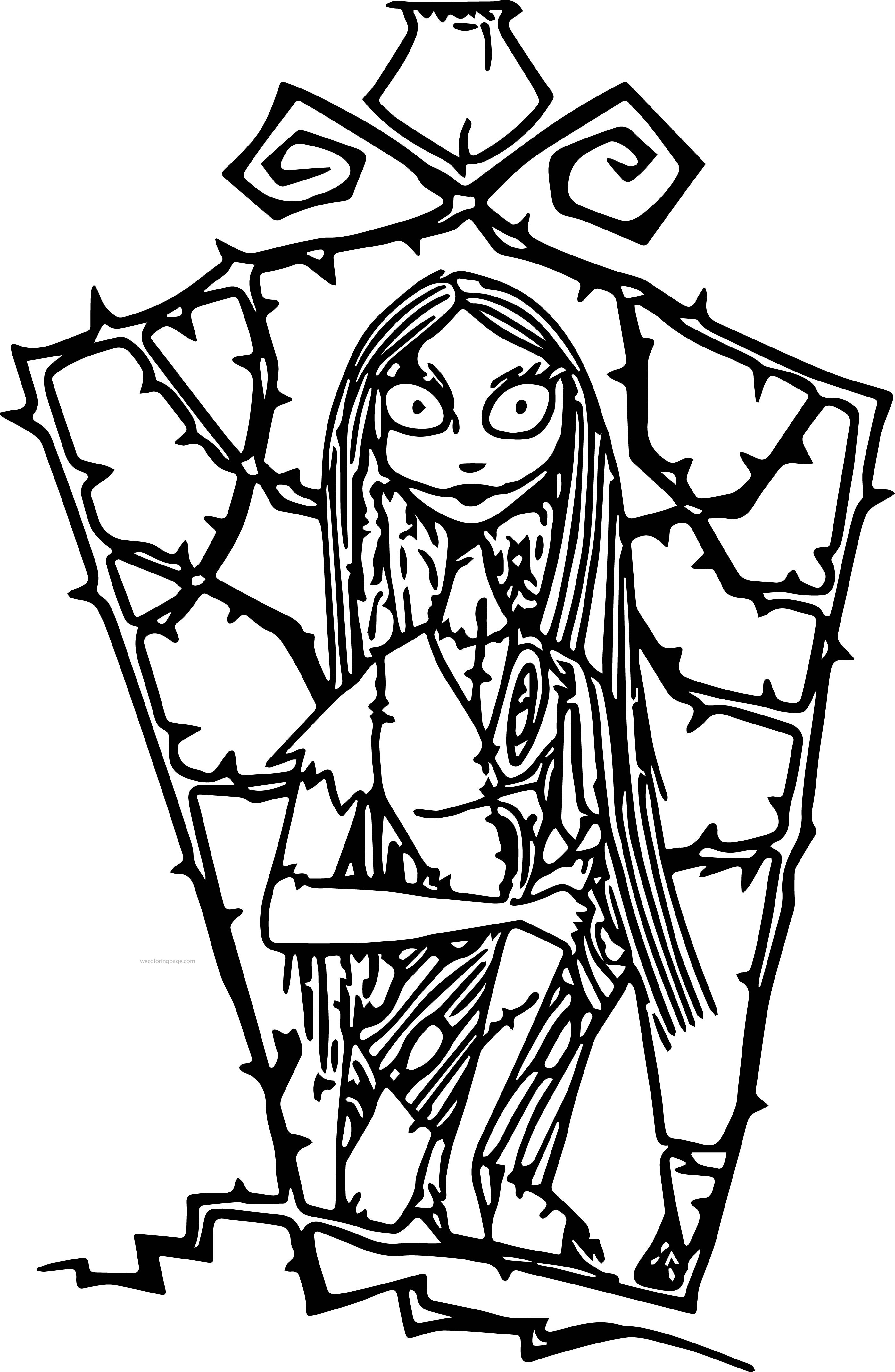 2793x4280 Nightmare Before Christmas Coloring Page Awesome Free Printable