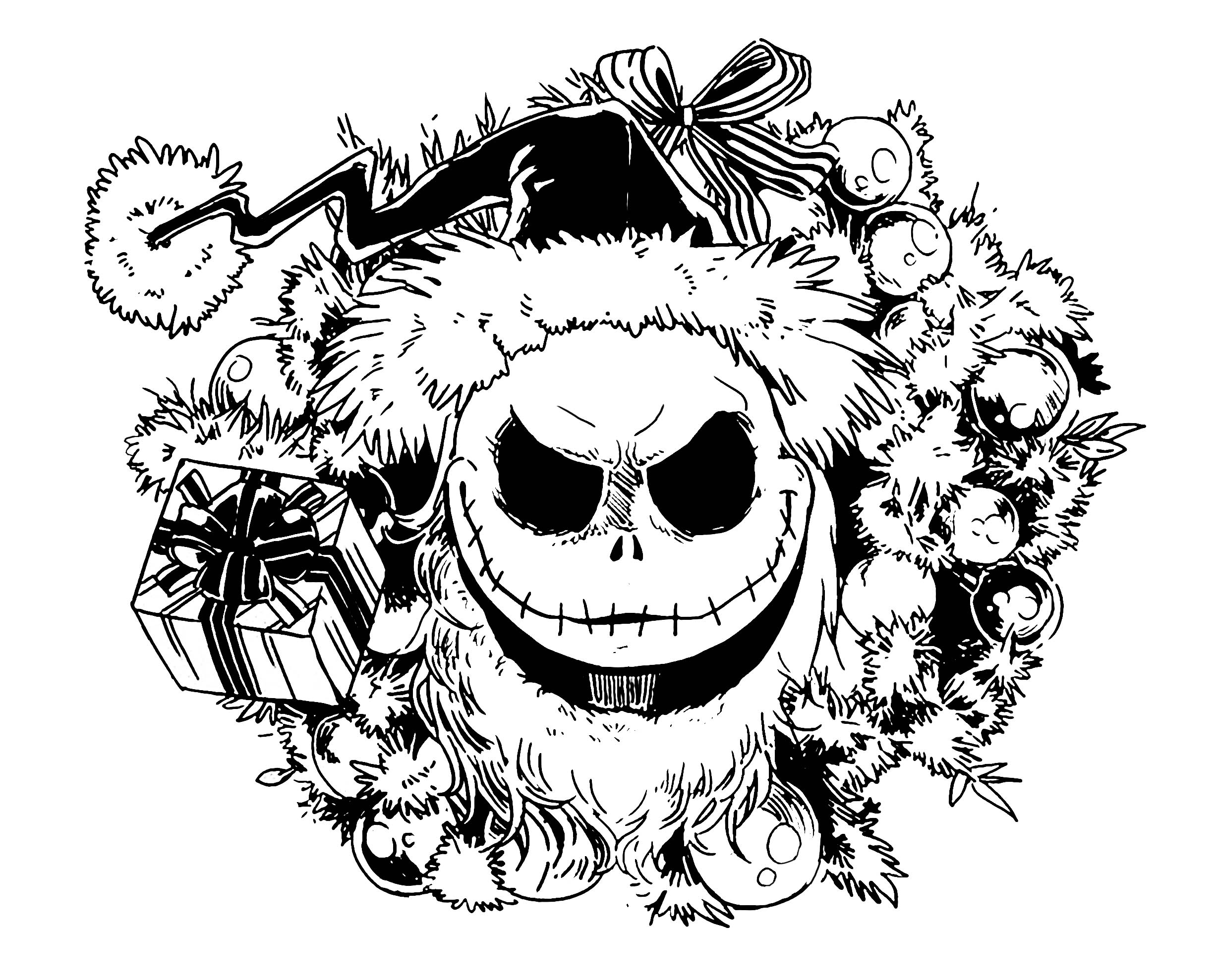 2455x1978 Nightmare Before Christmas Coloring Pages Getcoloringpages Gallery