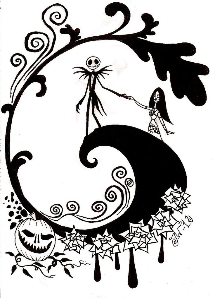 736x1018 Best Nightmare Before Christmas Coloring Pages Images
