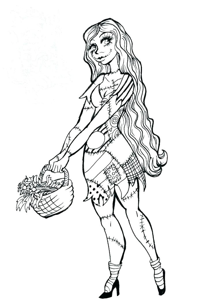 736x1053 Nightmare Before Christmas Jack And Sally Coloring Pages