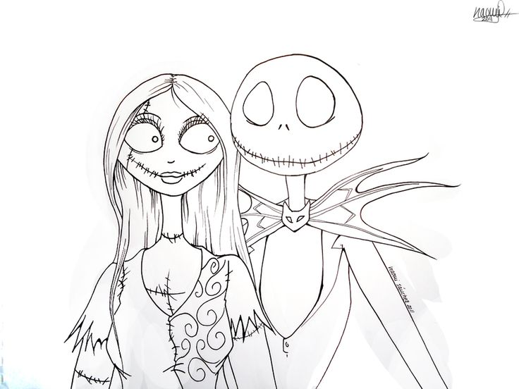 736x552 The Nightmare Before Christmas Jack Coloring Pages