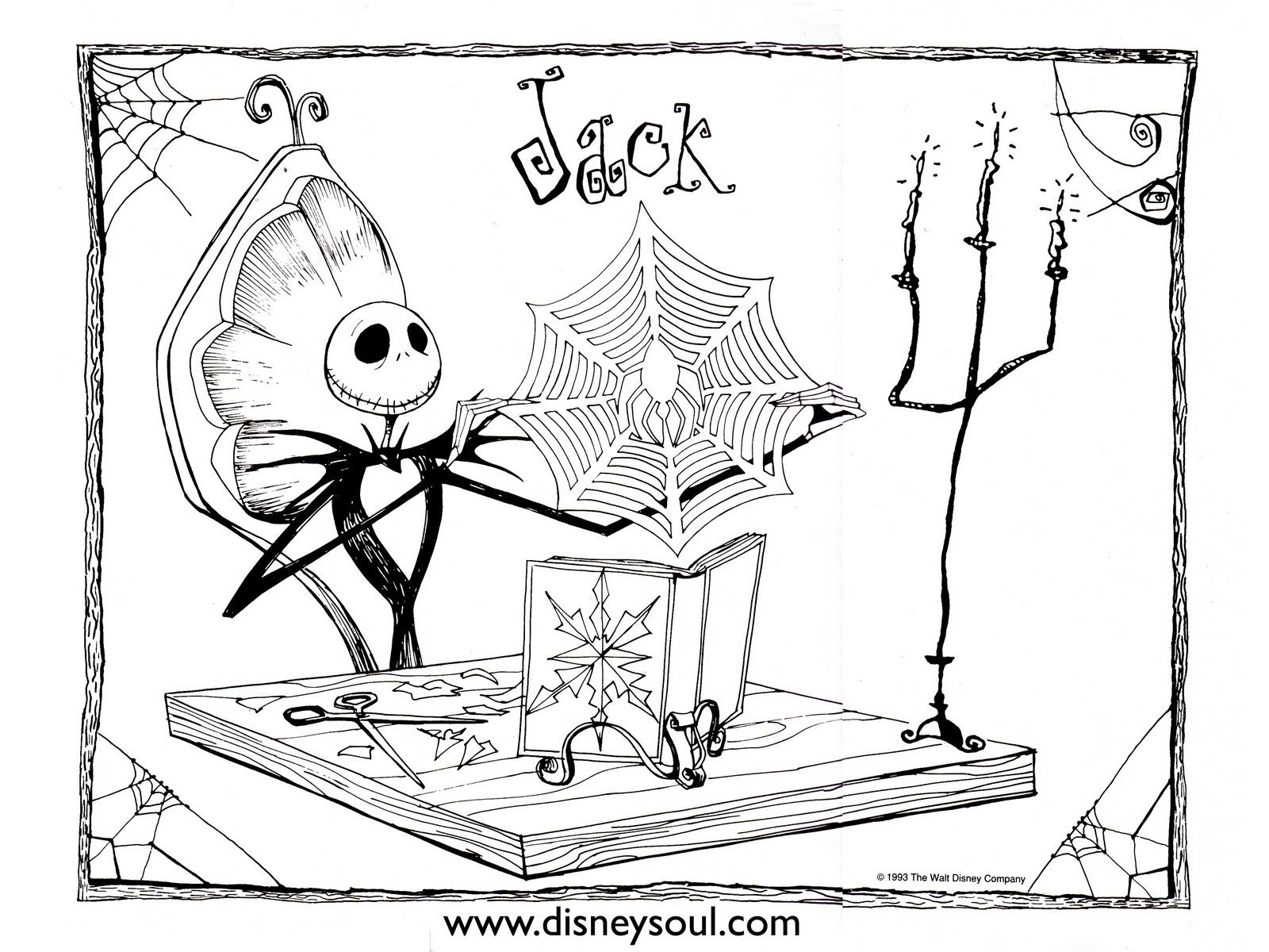 1600x1200 Free Printable Nightmare Before Christmas Coloring Pages Best