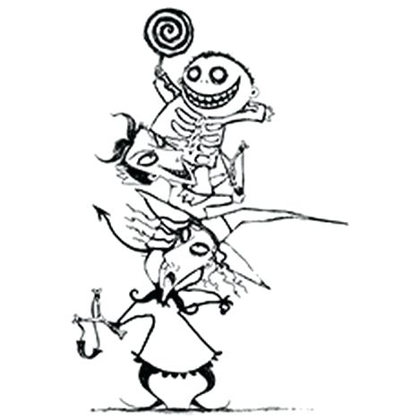 468x468 Nightmare Before Christmas Coloring Book Together With Nightmare