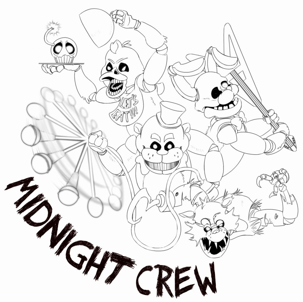 Nightmare Foxy Coloring Pages