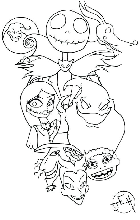 490x768 Nightmare Coloring Pages Printable Nightmare Before Coloring Pages
