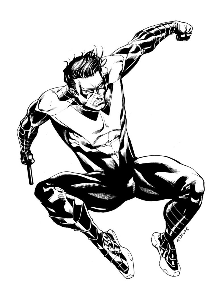 770x1024 Nightwing Coloring Pages