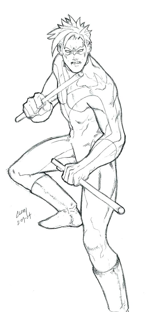 530x1092 Nightwing Coloring Pages Coloring Pages