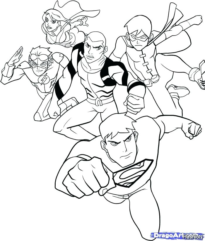 700x821 Nightwing Coloring Pages Young Justice Coloring Pages Young