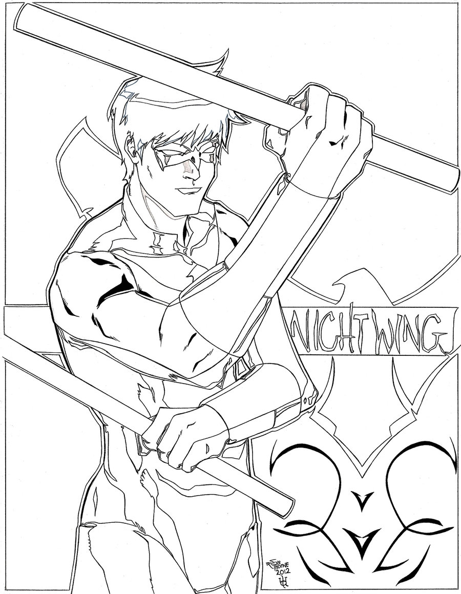 900x1160 Nightwing Coloring Pages To Print