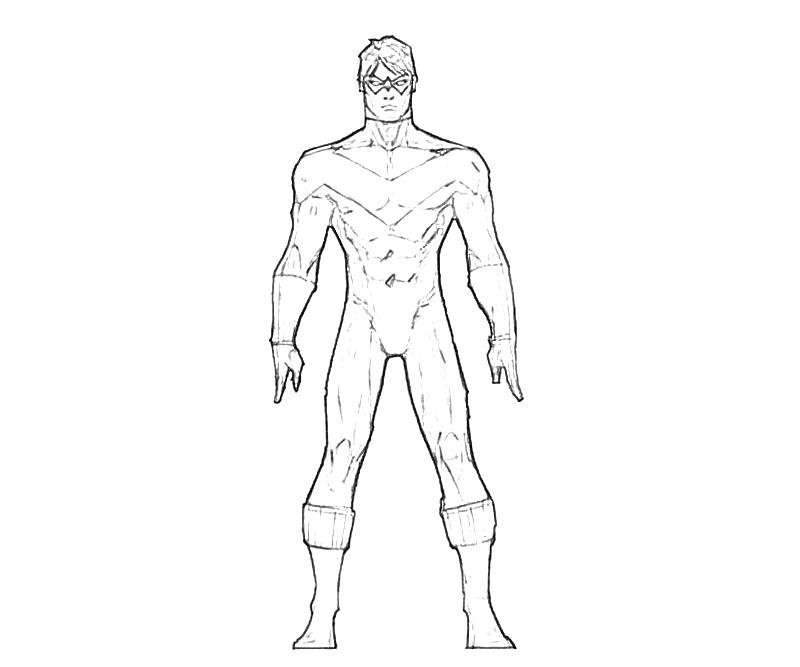 800x667 Opulent Design Ideas Nightwing Coloring Pages And Robin Dragon