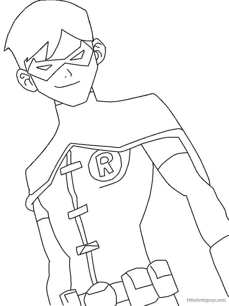 Nightwing Coloring Pages At Getdrawings Free Download