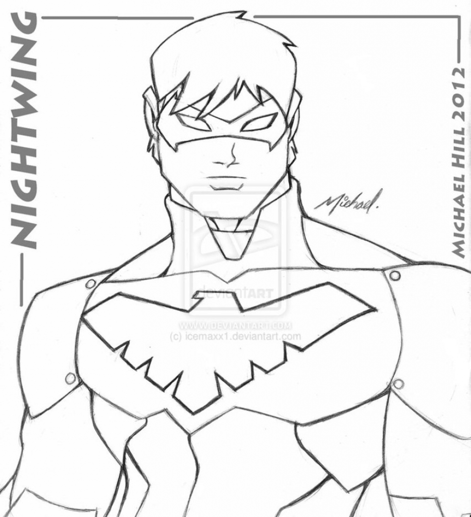 933x1024 Nightwing Coloring Pages With Wallpapers Android Mayapurjacouture