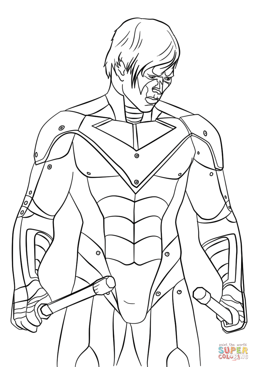 824x1186 The Nightwing Coloring Page Free Printable Coloring Pages