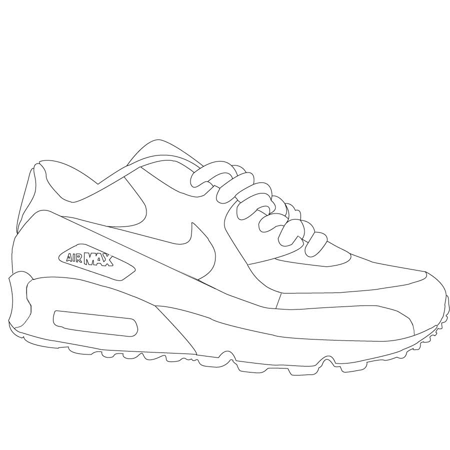 900x900 Nike Air Max Coloring Pages
