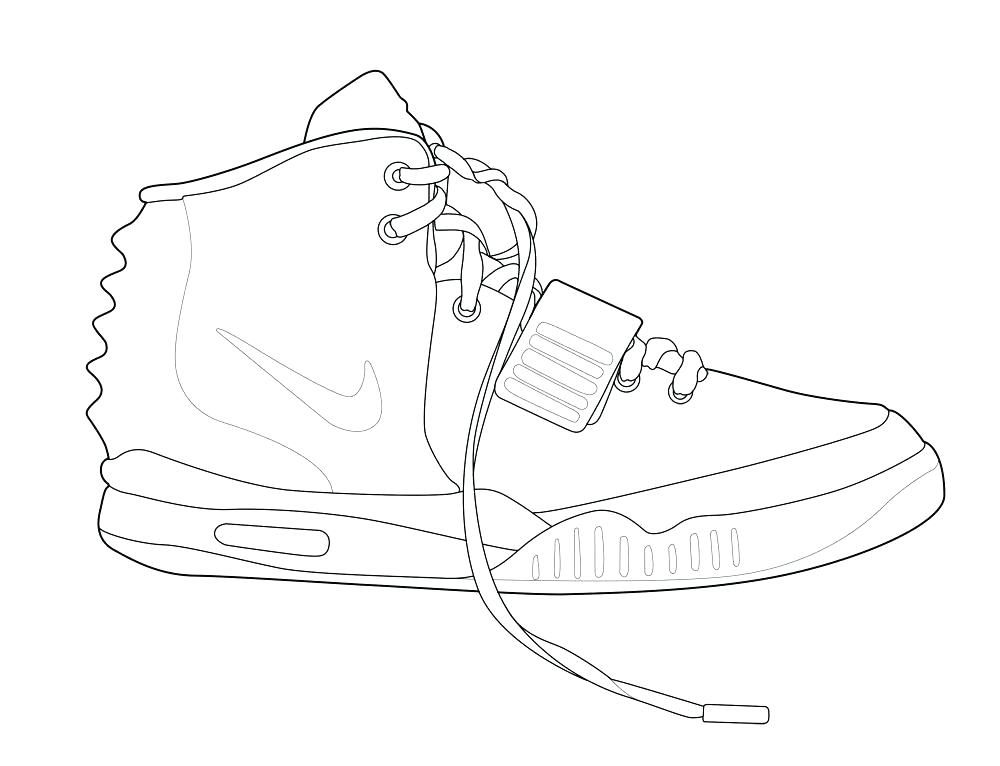 1000x766 Nike Basketball Shoes Coloring Pages Sheets Shoe