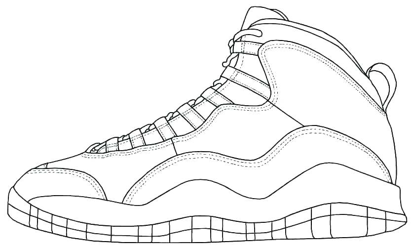 835x506 Nike Basketball Shoes Coloring Pages Ballet Printable Shoe Sheets