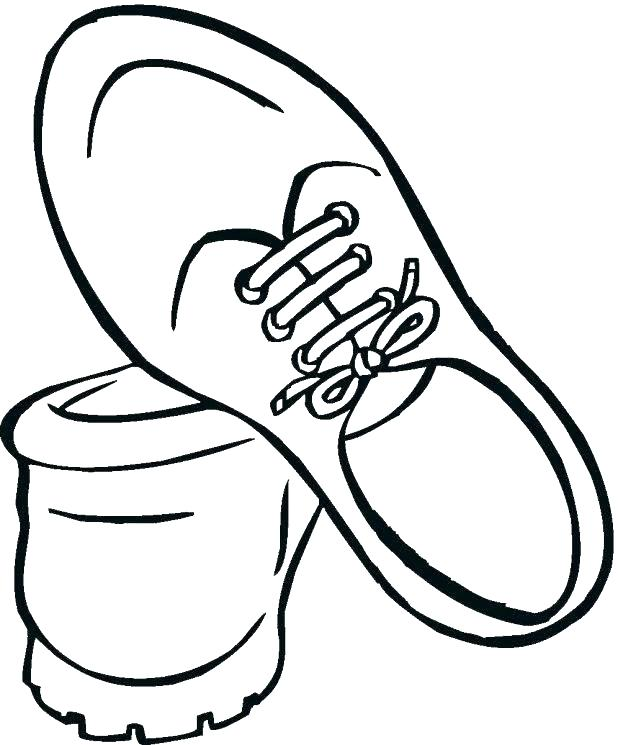 618x745 Running Shoe Coloring Page Shoe Color Page Basketball Coloring