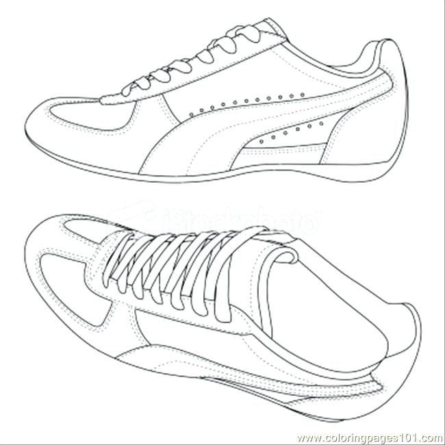 650x650 Running Shoes Coloring Pages Shoes Coloring Page Nike Running
