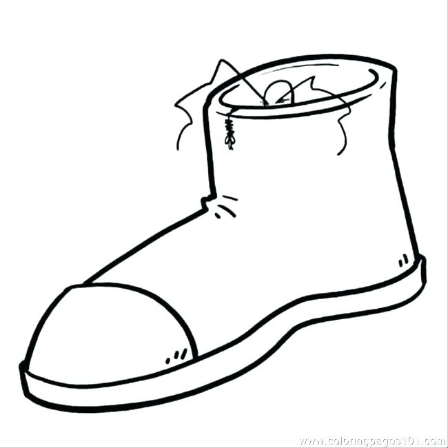 650x650 Shoes Coloring Pages