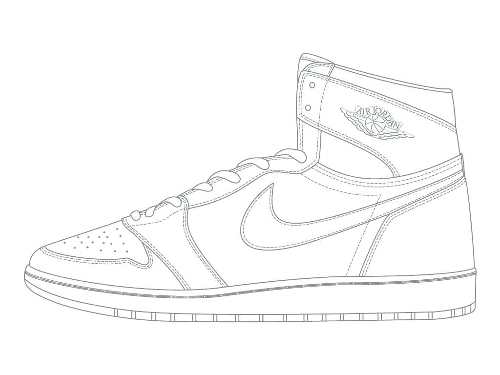 1024x768 Coloring Pages Jordan Coloring Pages High Definition Nike Air